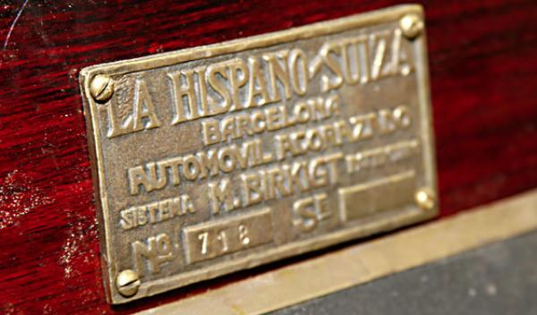 Hispano-Suiza placa