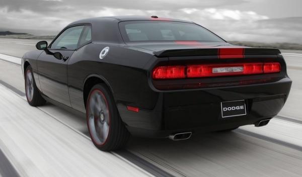 Trasera del Dodge Challenger Rallye Redline