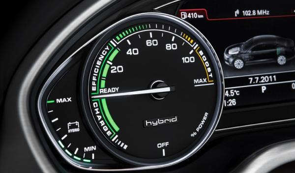 Audi A8 hybrid power meter potencia