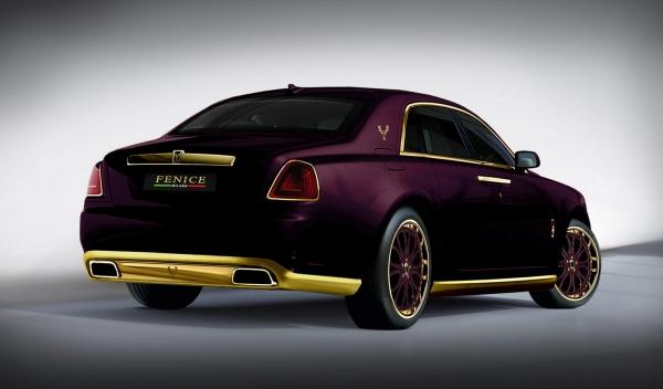 Rolls Royce Ghost Purple trasera