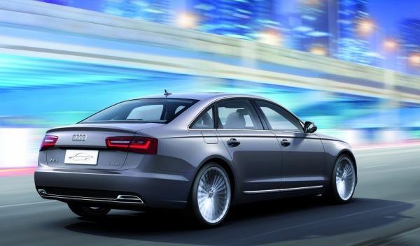 Audi A6 L e-tron concept trasera