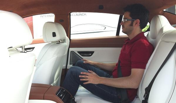 BMW Serie 6 Gran Coupé interior plazas traseras