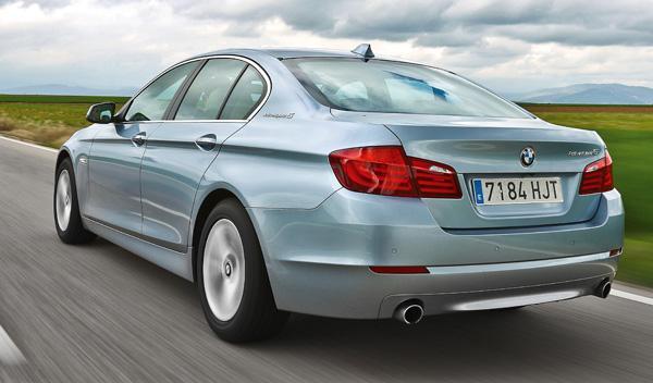 Trasera del BMW ActiveHybrid 5