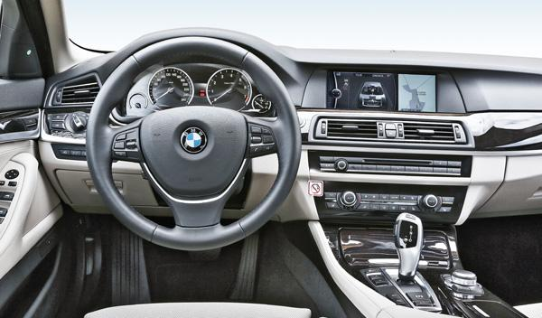 Interior del BMW ActiveHybrid 5