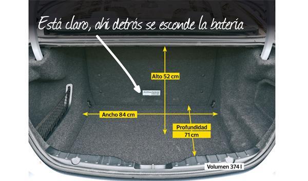 Maletero del BMW ActiveHybrid 5