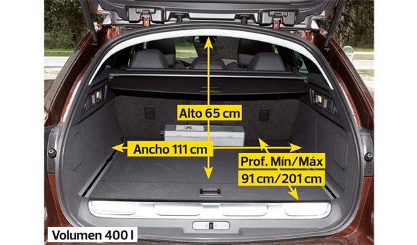 Maletero del Peugeot 508 RXH