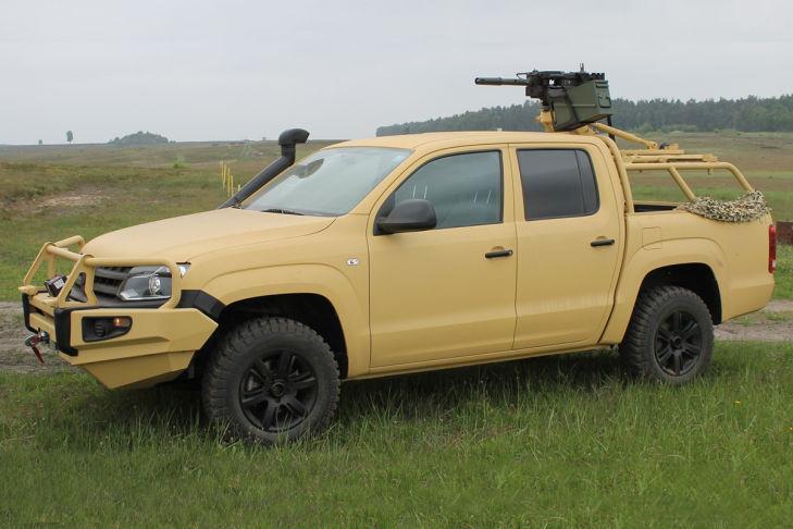 Nuevo Volkswagen Amarok M militar lateral