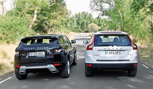 Range Rover Evoque/Volvo XC60 traseras