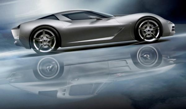 Un prototipo de Corvette actual centro de diseño de GM