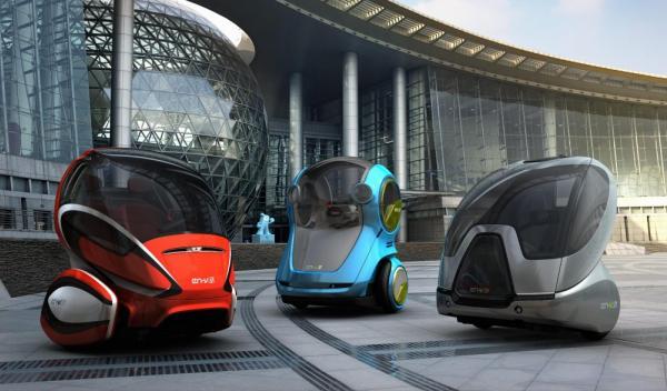 Los 'EN-V personal mobility concept' centro de diseño de GM