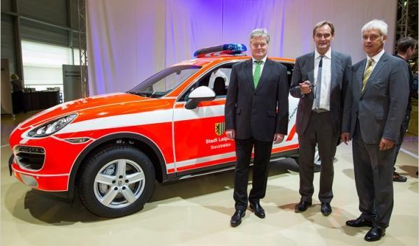 Porsche Cayenne de Bomberos alcalde