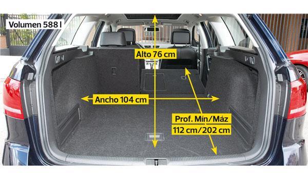 VW Passat Alltrack maletero