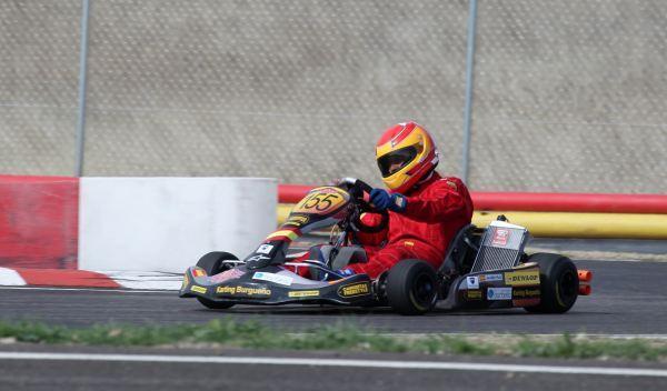 Kart de carreras-derrapada