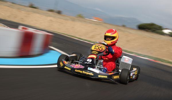 Kart de carreras-curva