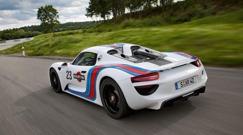 Porsche 918 Martini Racing trasera