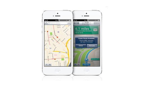iPhone 5 mapas navegacion gps por voz