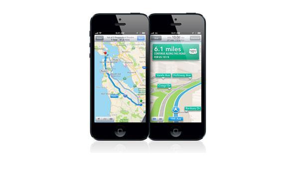iPhone 5 mapas navegacion gps por voz señales