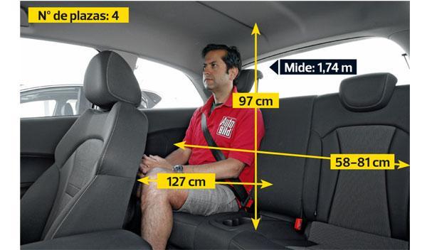 Audi A1 2.0 TDI plazas traseras