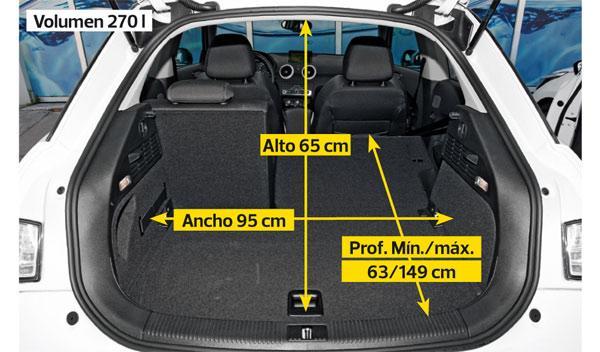Audi A1 2.0 TDI maletero