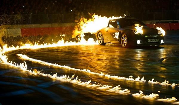 Top Gear Live 911 fuego