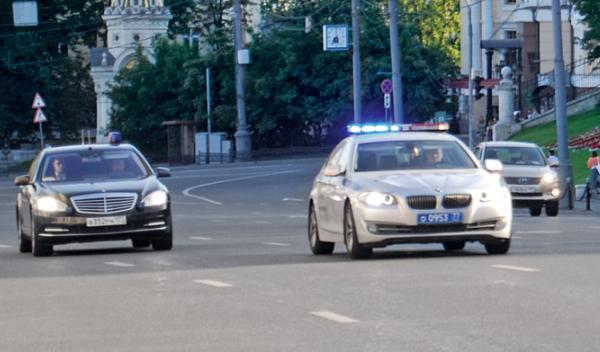 BMW Serie 5 coche policía Rusia