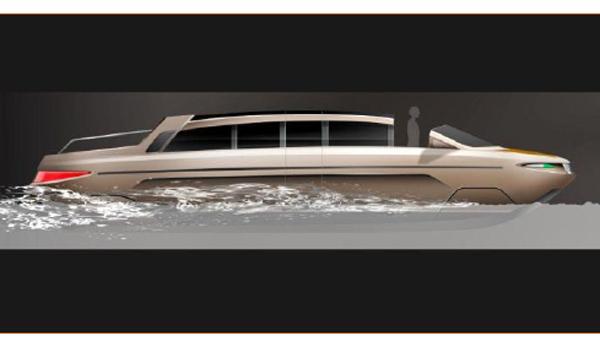 Limousine Tender 33 navegando
