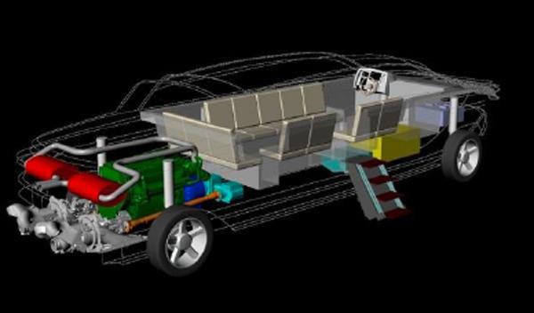 Limousine Tender 33 motores