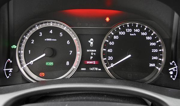 Lexus GS 450 h F-Sport relojes