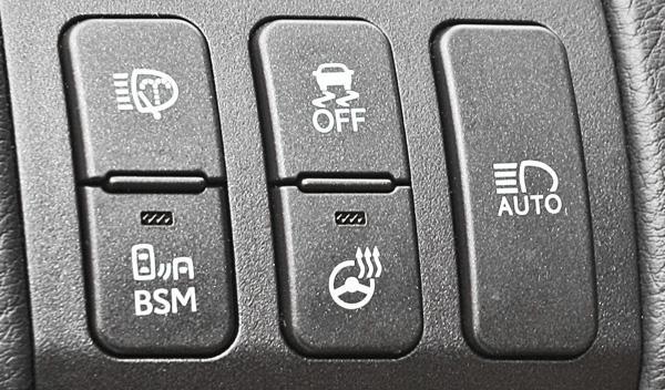Lexus GS 450 h F-Sport botonera