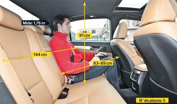 Lexus GS 450 h F-Sport asientos traseros