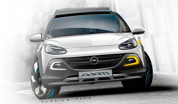 Opel Adam Rocks frontal salon ginebra 2012