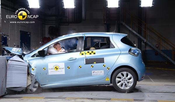 Crasht test Euro NCAP Renault Zoe