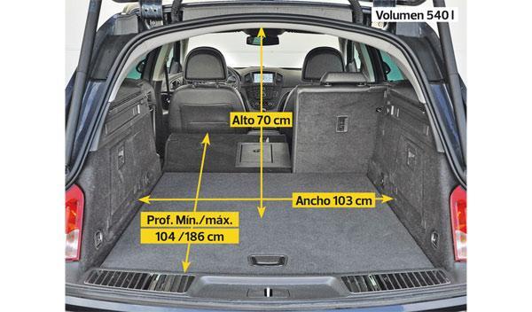 Opel Insignia Sports Tourer CDTI prueba larga duración maletero
