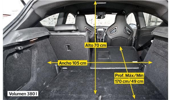Opel Astra OPC maletero