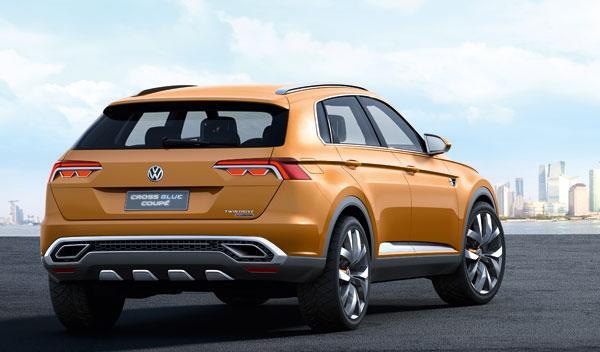 VW CrossBlue Coupé trasera