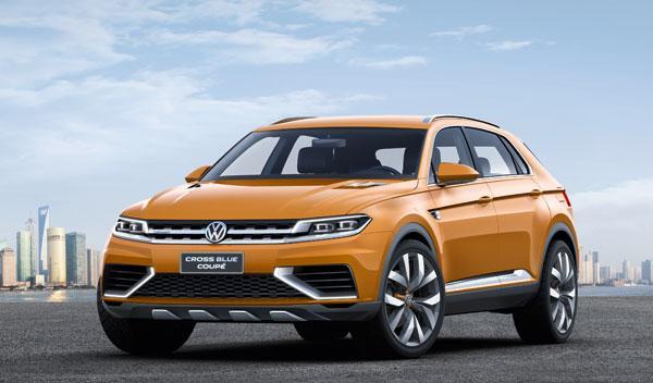 VW CrossBlue Coupé tres cuartos delanteros