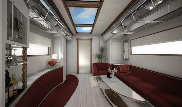 caravana de lujo por 2 millones de euros, salón