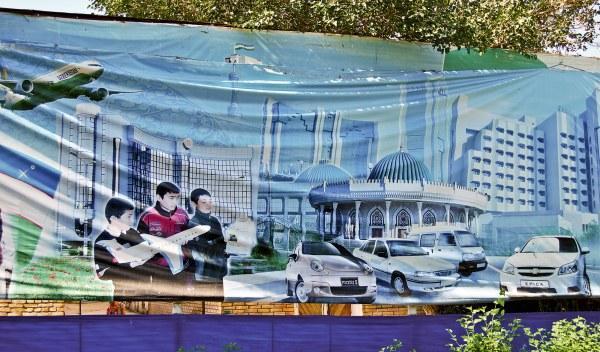 Cartel propaganda Uzbekistán