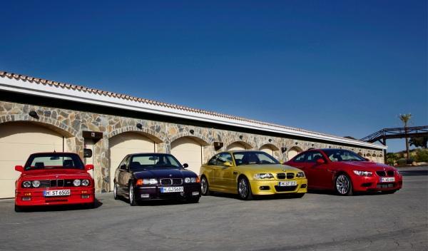 BMW M3 4 generaciones de un coche deportivo de éxito