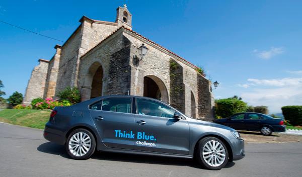 Cada participante de la Think Blue Challenge salía con un lapso de dos minutos