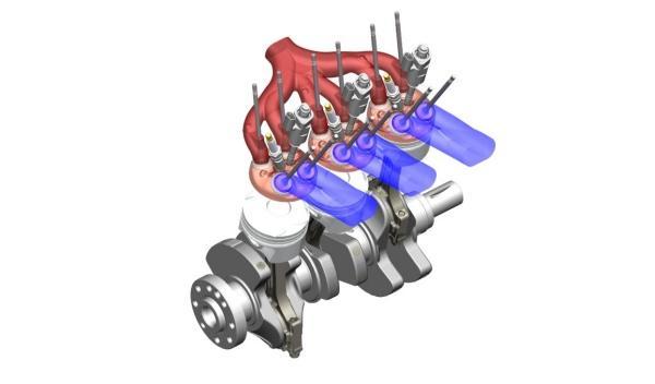 motor tricilíndrico opel