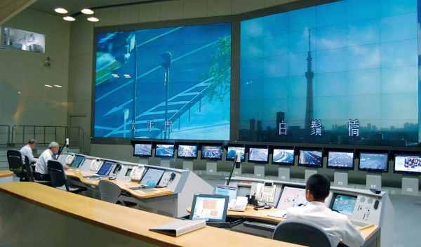 definición de pantallas del Centro de control de Tráfico Tokio