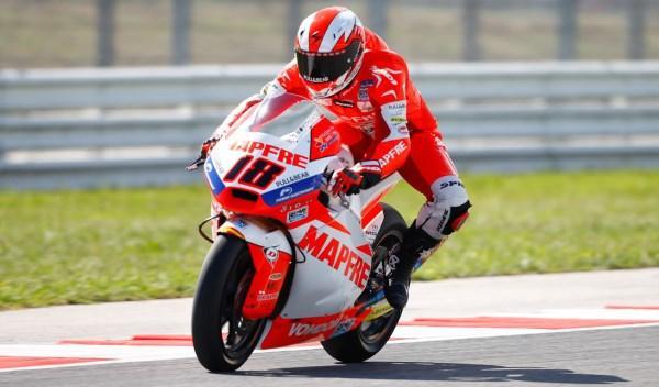 Nico Terol, en el circuito de Misano.