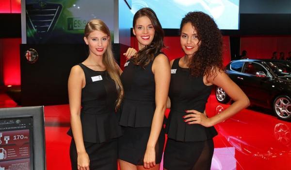 Chicas del Salón de Frankfurt