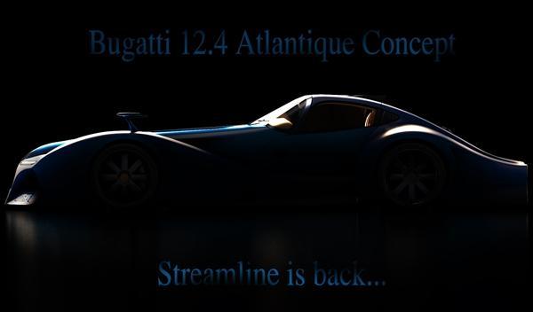 Bugatti 12.4 Atlantique Concept perfil