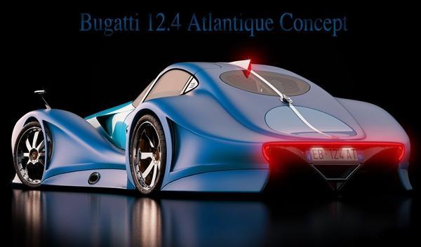 Bugatti 12.4 Atlantique Concept trasera