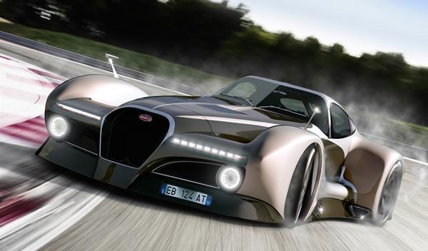 Bugatti 12.4 Atlantique Concept drift