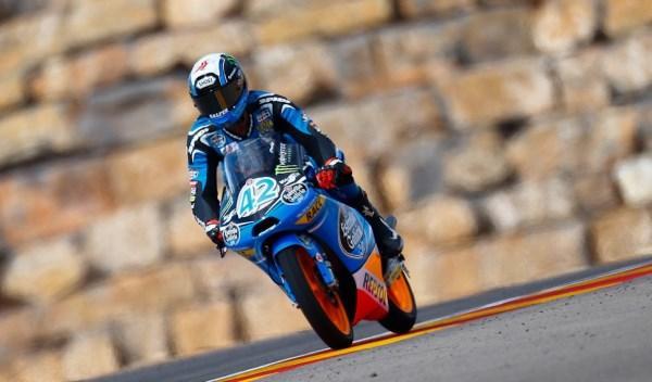 Alex Rins, en el GP de Aragón de Moto3