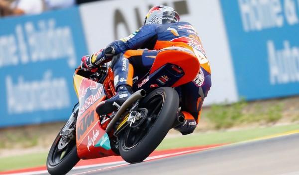 Luis Salom, en el GP de Aragón de Moto3