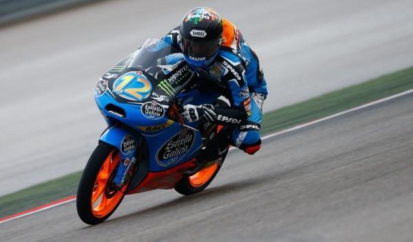 Alex Márquez, en el GP de Aragón de Moto3